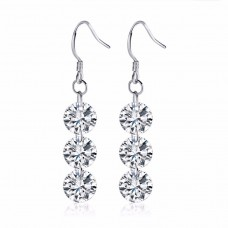 3 Drop Earrings Made with Crystals from Swarovski®