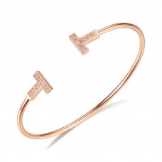 Diamond Bangle CTTW 0.018 Rose Gold
