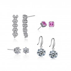 Four Piece Earring Set Made with Crystals from Swarovski®