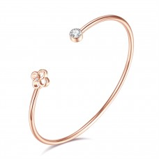 Diamond and Swarovski® Flower Bangle CTTW 0.515