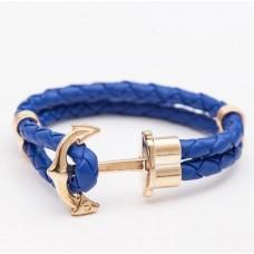Nautical Anchor Double Leather Band Bracelet