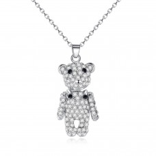 Crystal Encrusted Teddy Bear Pendant