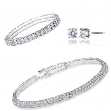 Double Row Tri-Set Made with Crystals From Swarovski®