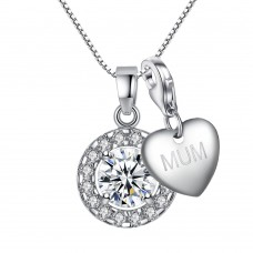 SOLITAIRE CIRCLE PENDANT INCLUDING CHOICE OF CHARM