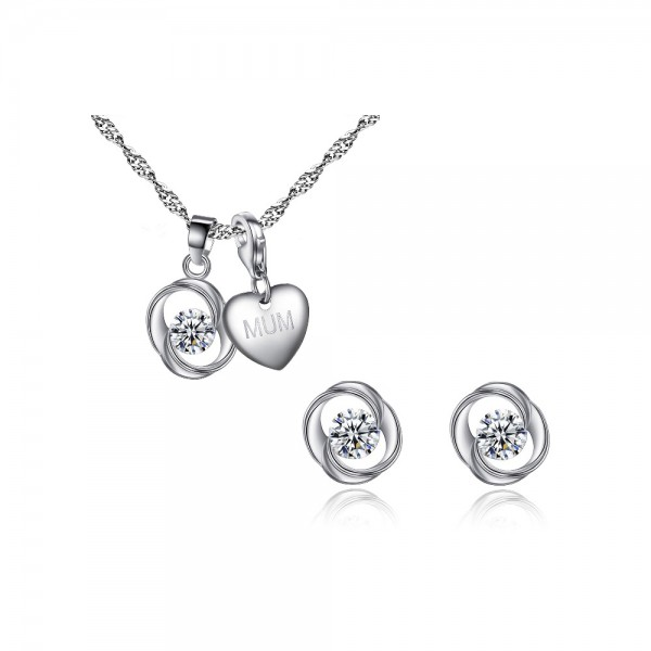 SWIRL SET MADE WITH CRYSTALS FROM SWAROVSKI® INCLUDING CHOICE OF CHARM