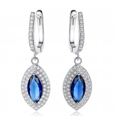 Crystal Blue Marquis Drop Earrings