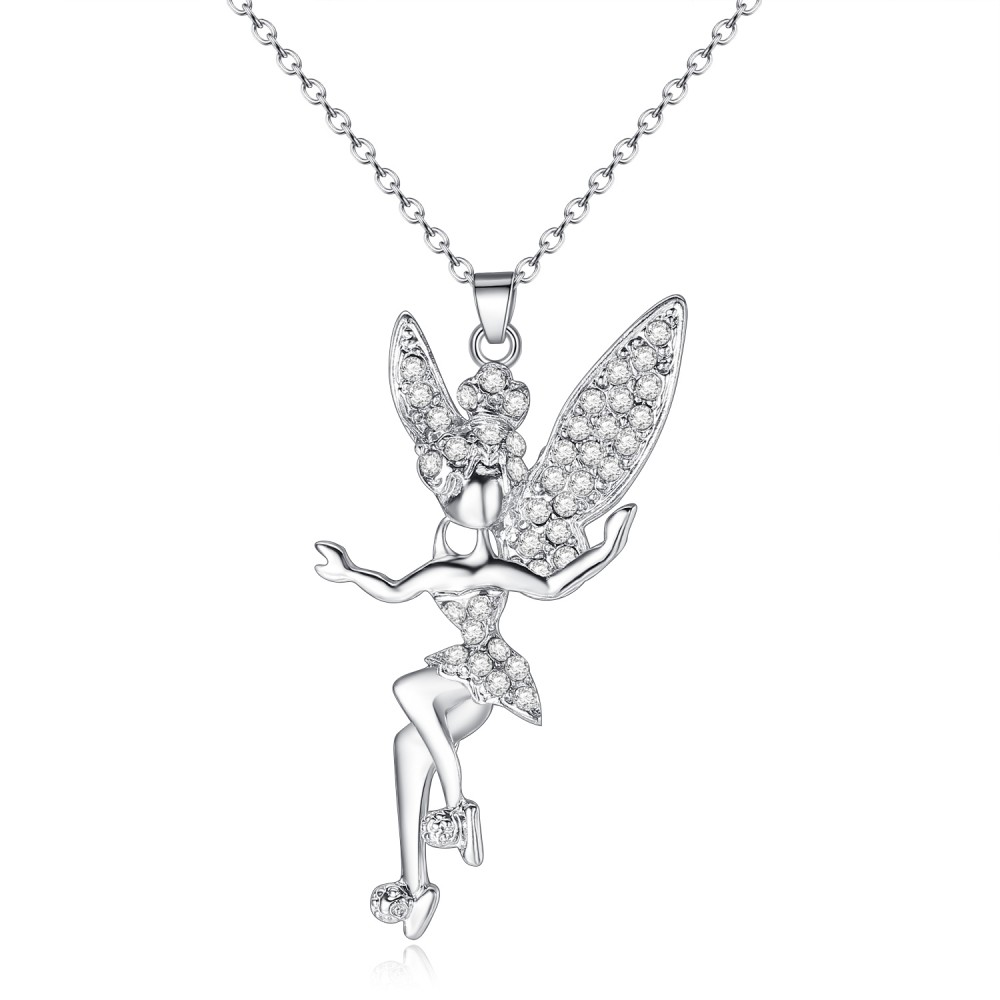 Crystal encrusted fairy pendant aloadofball Images