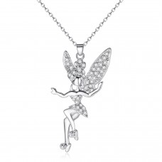 Crystal Encrusted Fairy Pendant