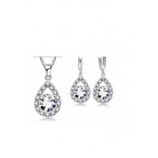 Crystal & Sapphire Drop Set