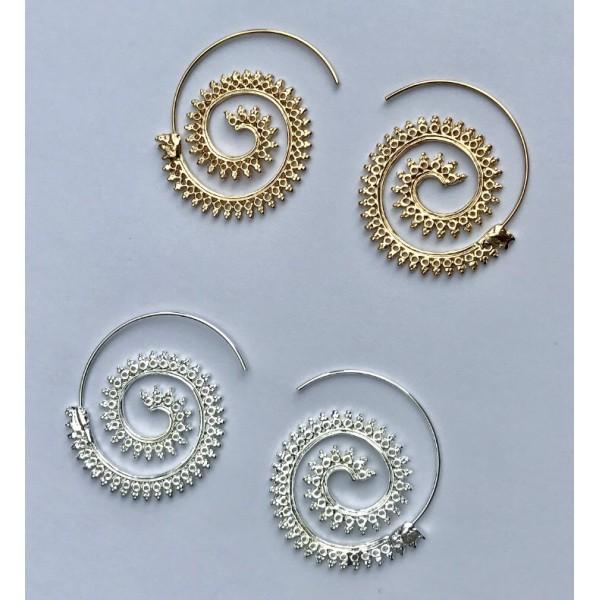 Spiral Round Hoop Earrings Set