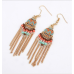 Gold Mini Statement Aztec Earrings