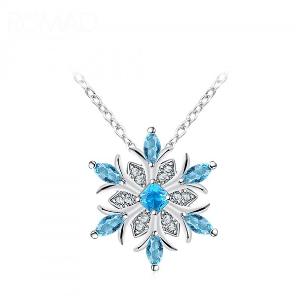 Blue Crystal Snowflake made with Crystals from Swarovski®