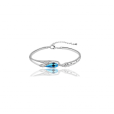 Cinderella Blue Bracelet with Crystals From Swarovski®