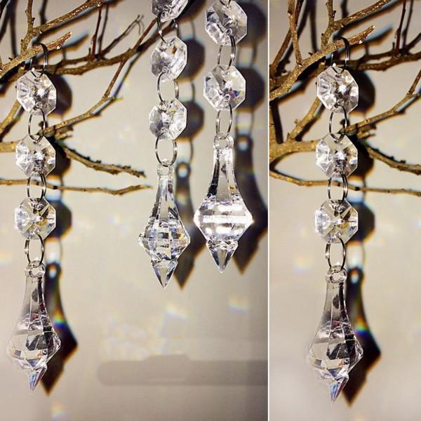Festive Crystal Drop Decorations Set