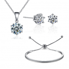 Friendship Solitaire Set Made with Crystals from Swarovski®