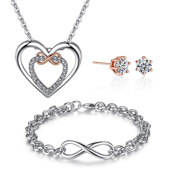 Infinity Tri-set made with crystals from Swarovski®