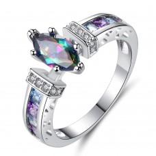 Rainbow Zircon Gemstone Cluster