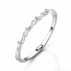 Four Stone Ribbon Bracelet Made with Crystals from Swarovski®