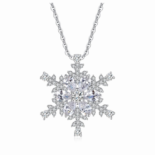 Crystal Snowflake Pendant Made with Crystals from Swarovski®