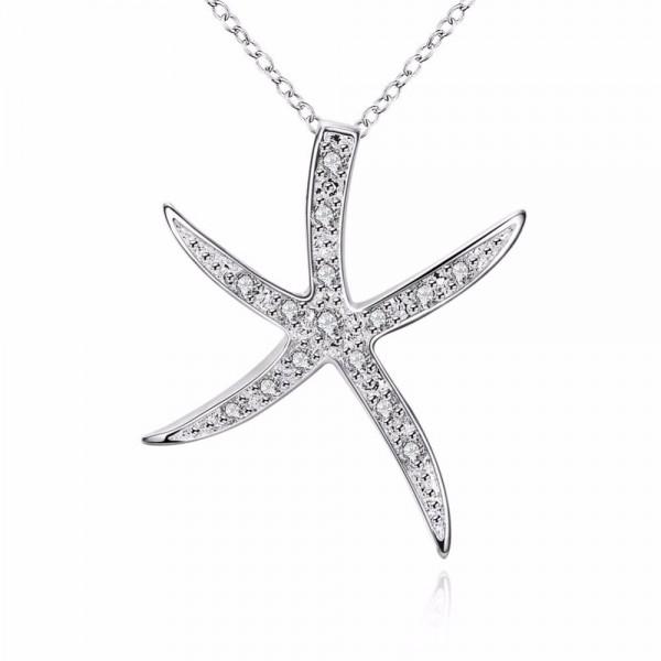 Starfish Crystal Pendant