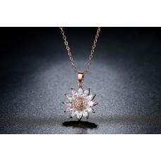 Sunflower Crystal Pendant
