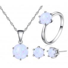 White Opal Three Piece Set