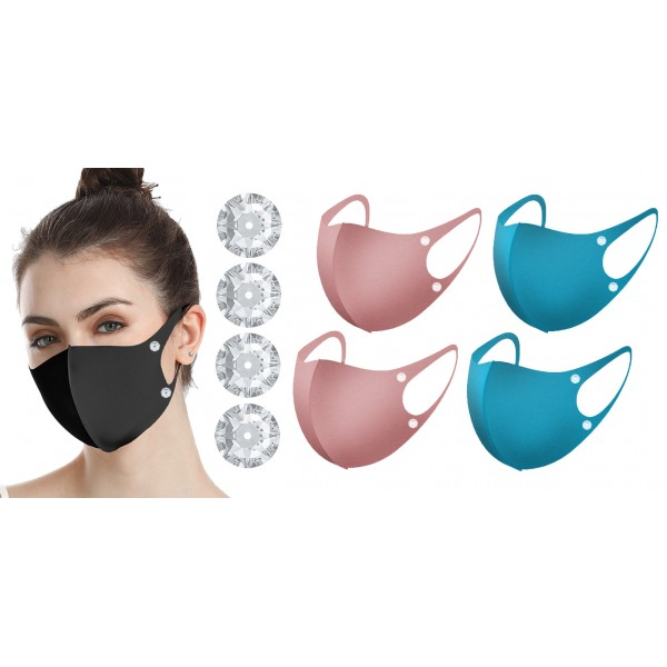 Reusable Face Mask with Crystals from Swarovski®