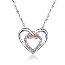 INFINITY LOVE NECKLACE WITH CRYSTALS FROM SWAROVSKI