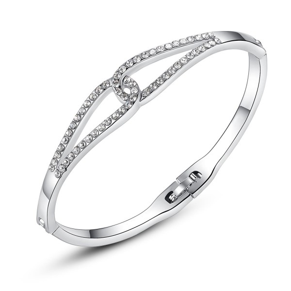 Infinity Crystal Bracelet Rhodium Plated
