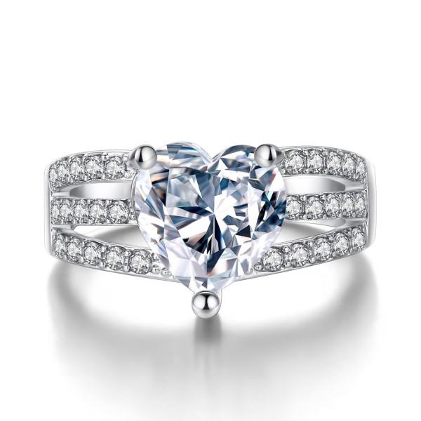2.3 Carat Lab Created Sapphire Three Row Ring
