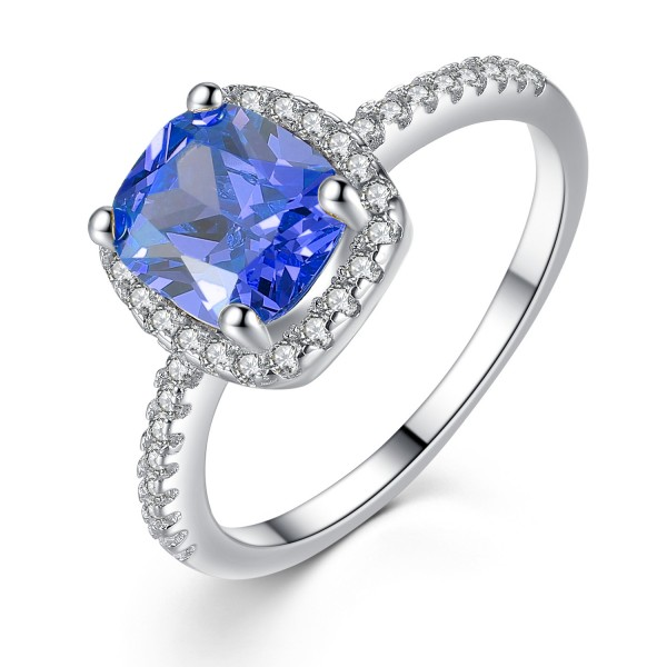 1.67 CTTW Simulated Sapphire Ring