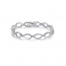 Crystal Hoop Link Bracelet & optional Earrings Made with Crystals from Swarovski®