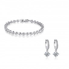 Chain Link Set Made with Crystals From Swarovski®