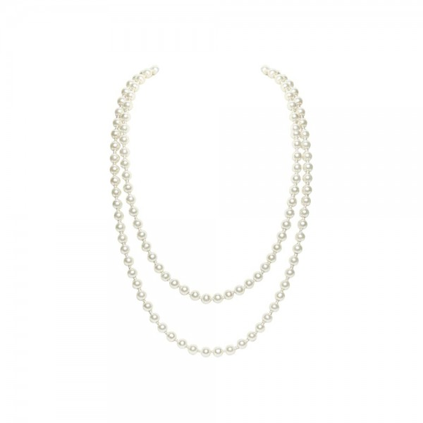Fashion Faux Pearls Flapper Beads Cluster Long Pearl Necklace