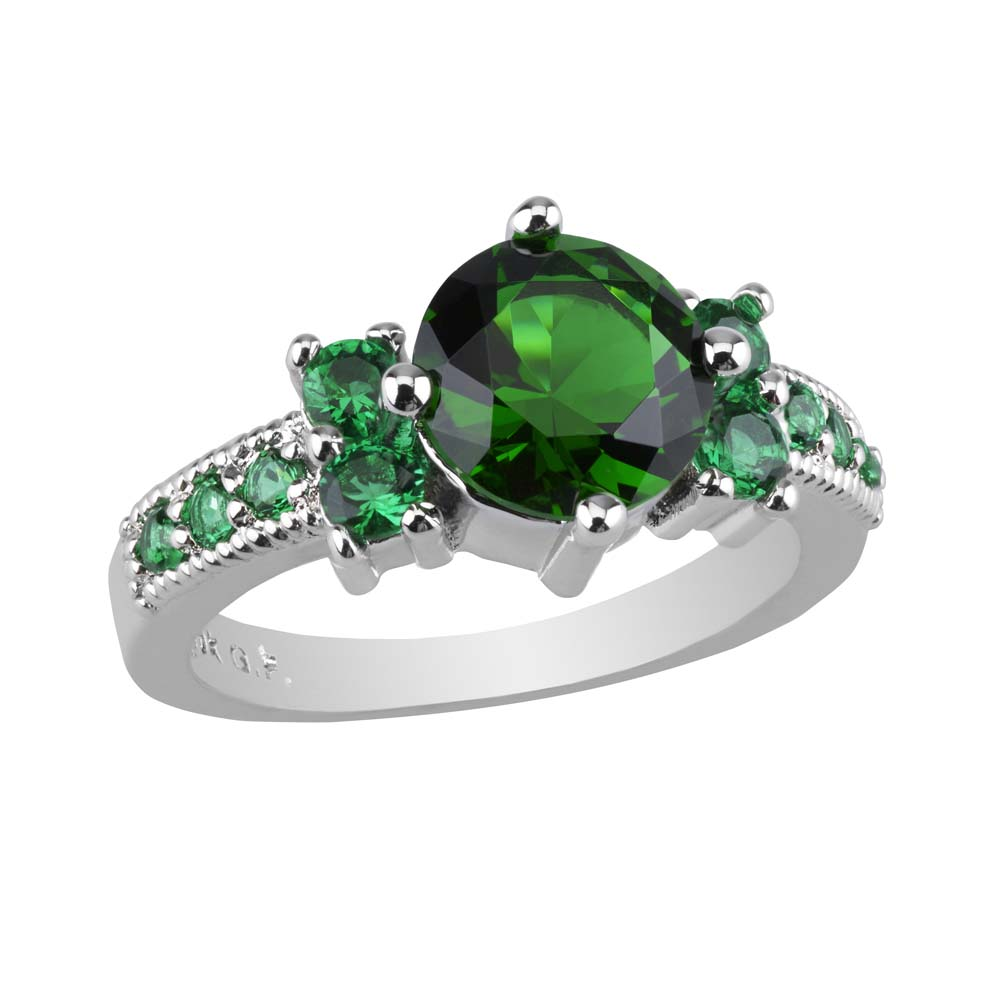 ring engagement emerald brilliant size round diamond rings beautiful cut wedding large of black