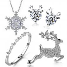 Festive Four Piece Jewellery Set Made with Crystals from Swarovski®