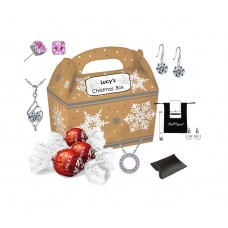 Luxury Personalised Christmas Box Made with Crystals from Swarovski®