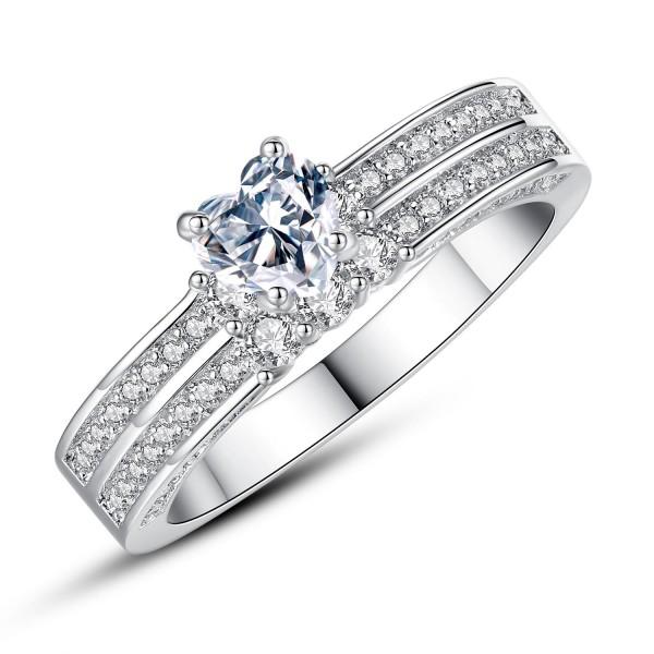 2.0 Carat Created Sapphire & Diamond Simulants Ring