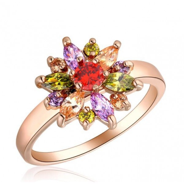 2.0 CARAT Marquise & Brilliant Cut Lab-Created Sapphire Rhodium Plated Ring