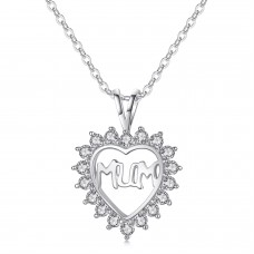 MUM Heart Pendant with Crystals from Swarovski®