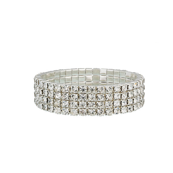 Four Row Tennis Bracelet made Sterling Silver & Cubic Zirconia